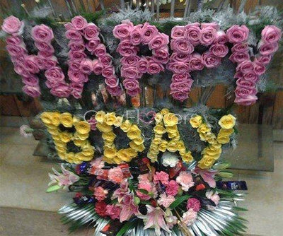 SAY HAPPY BIRTHDAY _ PREMIUM flowers CityFlowersIndia