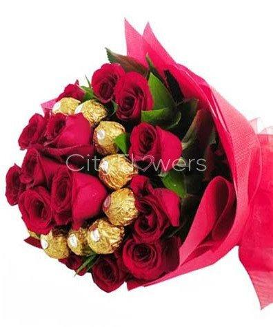 FERRERO CHOCOLATE BOUQUET flowers CityFlowersIndia