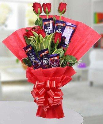BOUNDLESS BOUQUET flowers CityFlowersIndia
