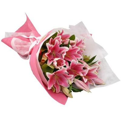 Lilies Seduction - Bouquet flowers CityFlowersIndia