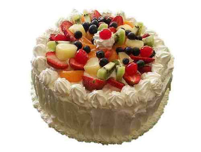 Fresh Fruit Cake (1 KG) flowers CityFlowersIndia