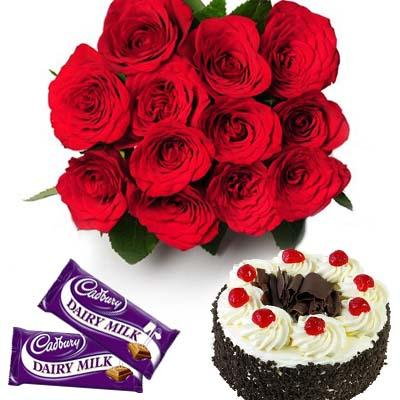 Delicious Surprise with Cake flowers CityFlowersIndia