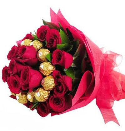 Sweet Surprise (Ferrero Rocher Bouquet) flowers CityFlowersIndia