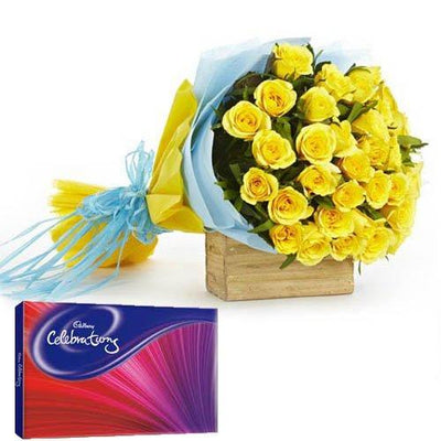 Choco Friendly Blast flowers CityFlowersIndia