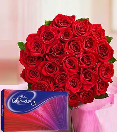 Love Choco Delight (Cadbury Celebrations Included) flowers CityFlowersIndia