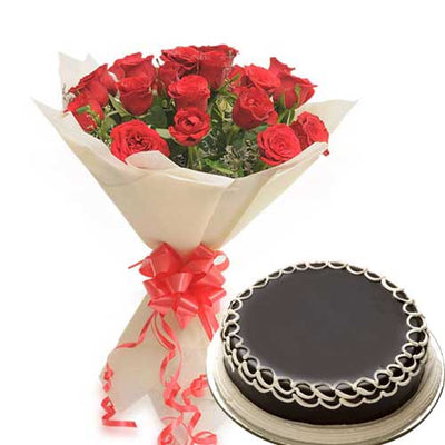 Charming Love (With Cake) flowers CityFlowersIndia