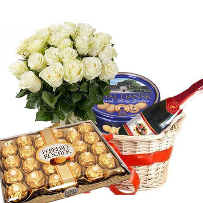 Gourmet Exotic Basket Surprise flowers CityFlowersIndia