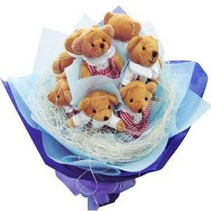 Teddy Bouquet - City Flowers Special flowers CityFlowersIndia