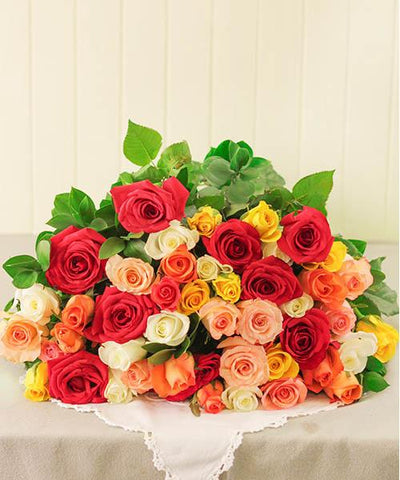 Assorted Bloom Roses flowers CityFlowersIndia