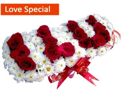 I LOVE YOU flowers CityFlowersIndia