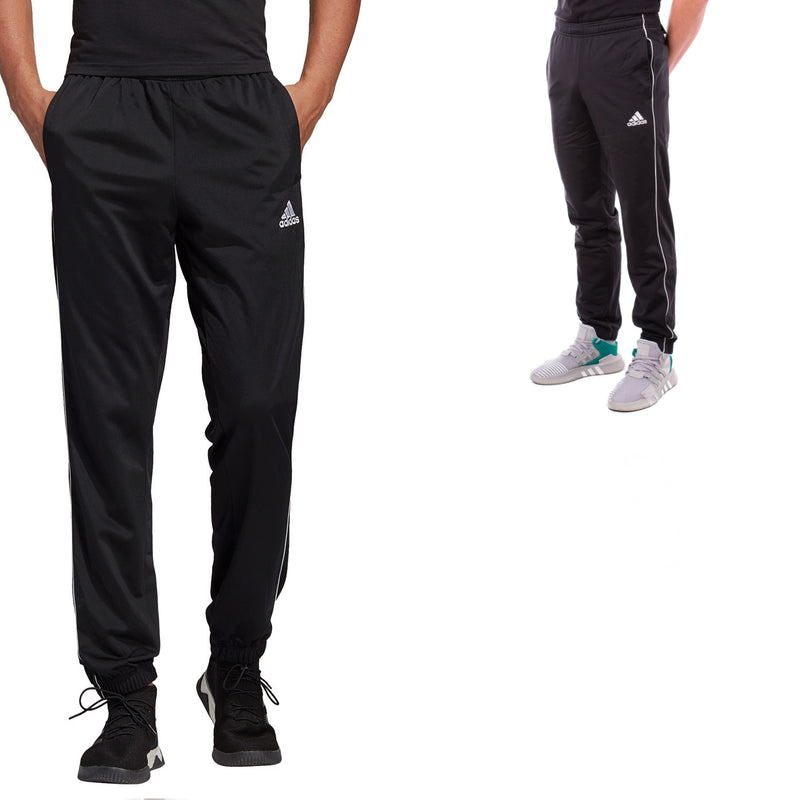 ADIDAS Mens Core 18 Tracksuit Bottoms - Trackies Track Pants Black