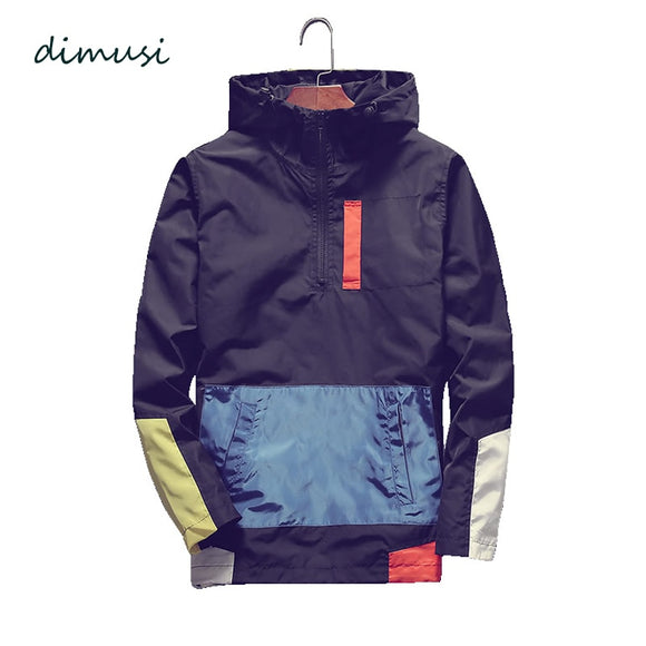 DIMUSI Men's Bomber Jackets Fashion Men Anorak Hip Hop Streetwear Hooded Coats Male Casual Baseball Uniform Jackets Clothing 5XL