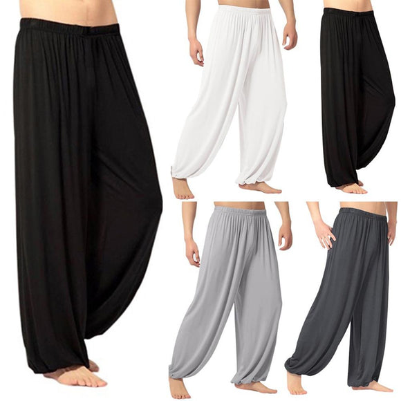 Men's joggers pants Casual sweatpants Solid Color Baggy Trousers Belly Dance Yoga Harem Pants Slacks  Trendy Men Loose style Hot