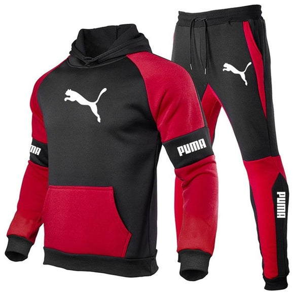 Autumn And Winter New Men's Suit Sportswear 2-Piece Hoodie + Pants Jogging Fitness Sportswear Pullover Track Suit Sweater Set pz