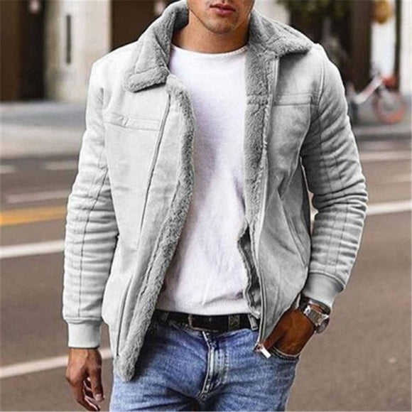 2020 New Men's Faux Leather Jackets And Coats Fleece Lined Winter Warm Parkas Thicken Thermal Faux Fur Overcoat Outerwear