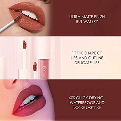 STAYMAX MATTE LIP INK, Not stick cup Lipgloss, Non-fading Long Lasting Waterproof Lip Gloss, Silky Liquid Lipstick, Nature Matte Lip Glaze Makeup with Vitamin E