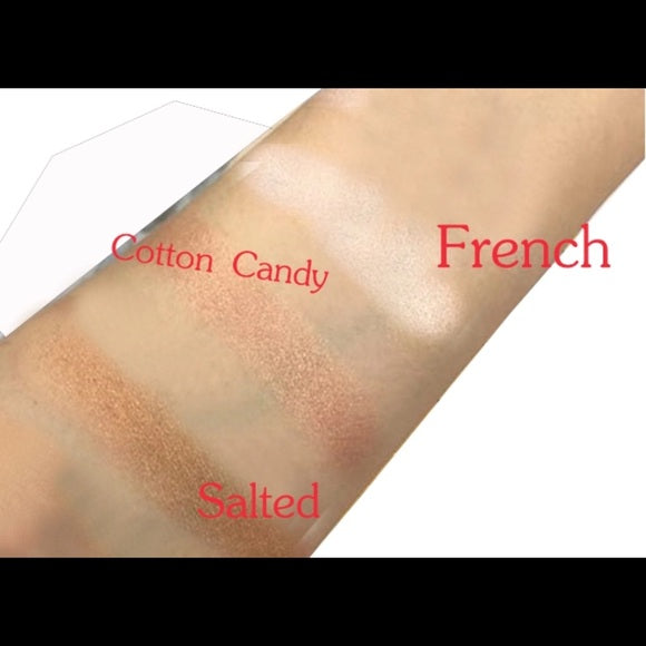 3 Colours Highlighter, Blush, Bronzer & Face Contour Palette