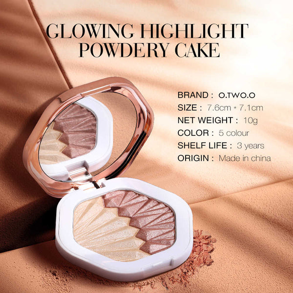 GLOWING HIGHLIGHTER POWDERY CAKE 2 IN 1