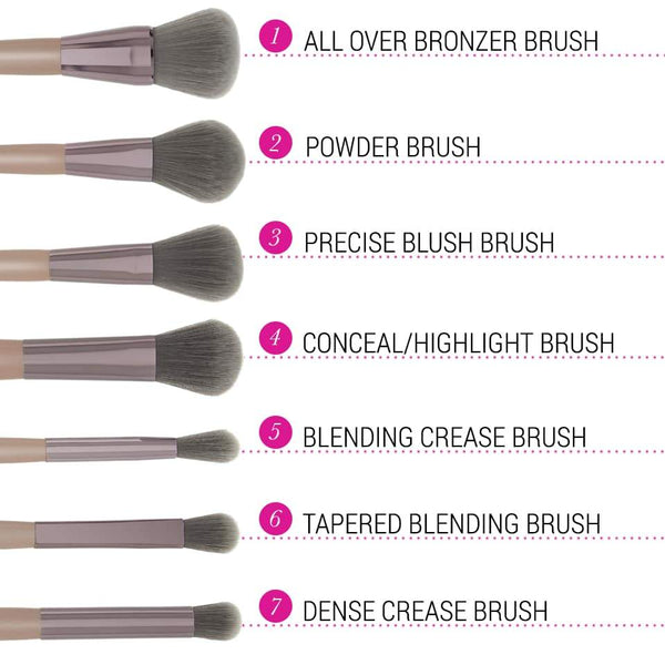 Lavish Elegance 15 Piece Brush Set with Bag