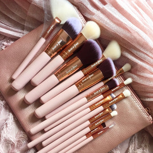 Make Up Brush Set Rose Gold 15pcs Zoeva