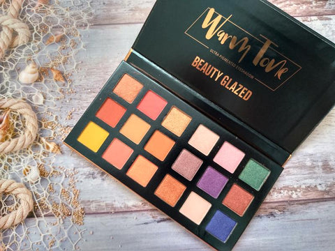 Warm Tone 18 Colors Ultra Pigmented Eye shadow