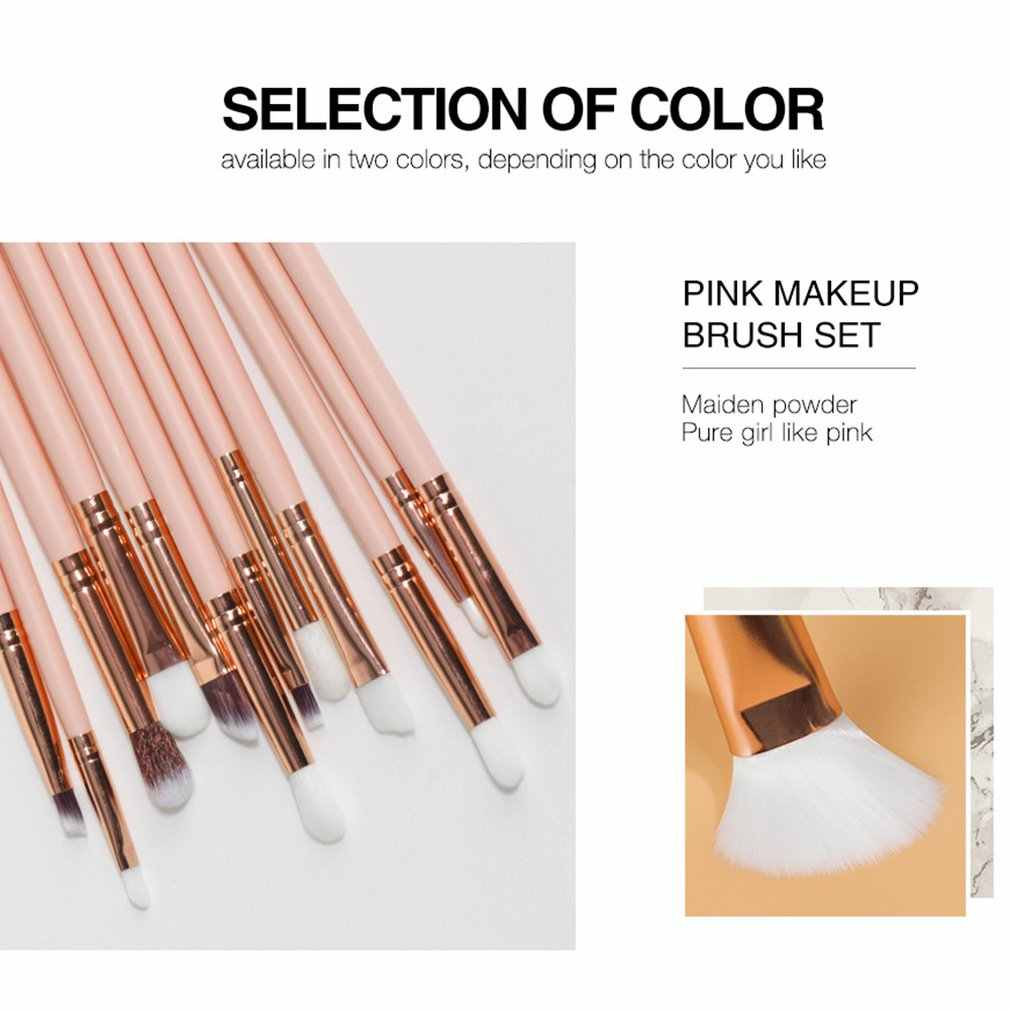 12pcs Makeup Brush Sets Eye Brush Multifunctional Beauty Tools Fiber Bristles Super Soft And Antibacterial Synthetic
