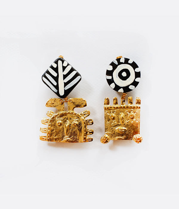 Boucles d'oreilles ANCIENT GOLDEN DUDES