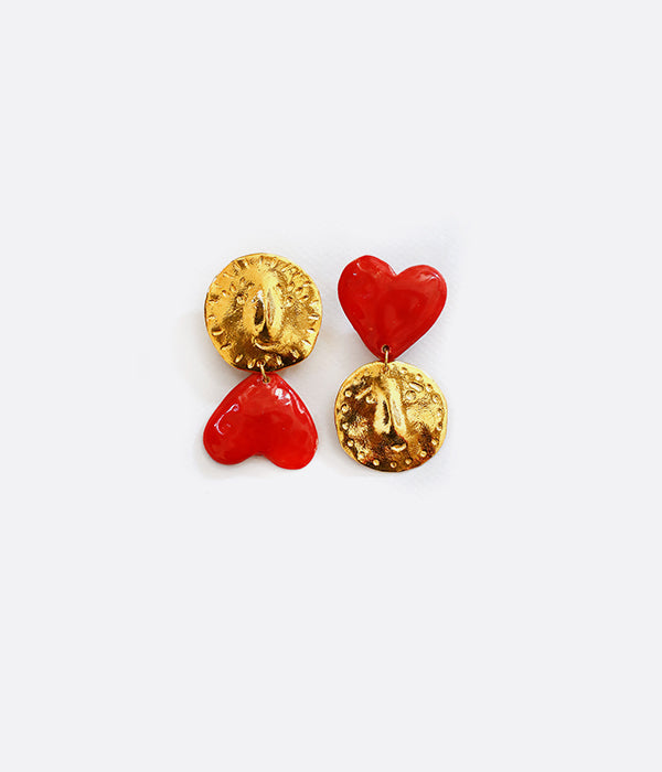 Boucles d'oreilles GOLDEN DUDES IN LOVE