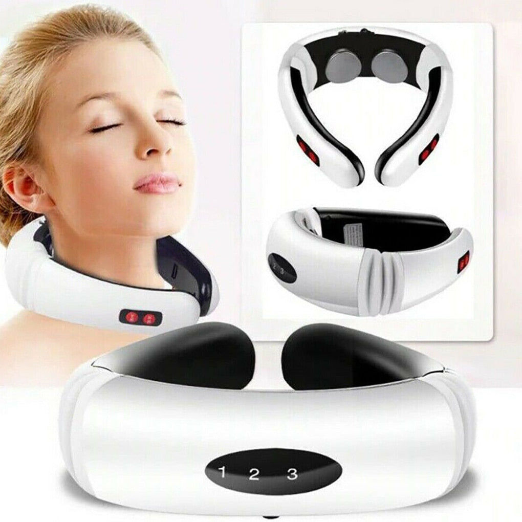 Electric pulse massager for neck pain and stress relief with 6 modes
