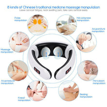 Load image into Gallery viewer, Electric pulse massager for neck pain and stress relief with 6 modes