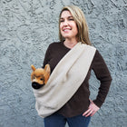 Dog Sling Carrier - Camel Chevron Woven