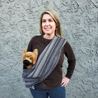 Dog Sling Carrier - Salt and Pepper Woven