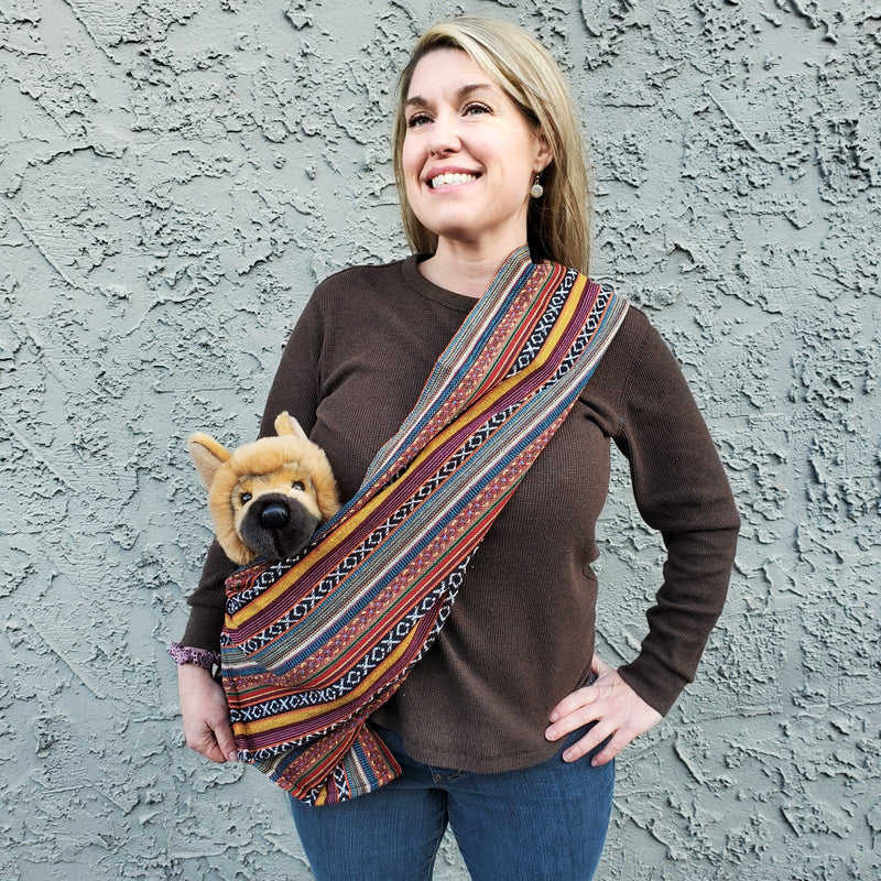 Dog Sling Carrier - Sonora Woven