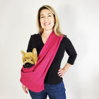 Dog Sling Carrier - Pink Woven
