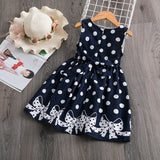 Casual party dress with dots