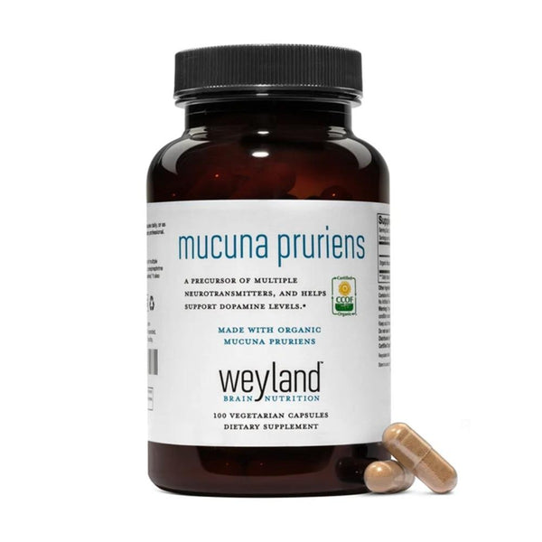 Made with Organic Mucuna Pruriens (100 Vegetarian Capsules)