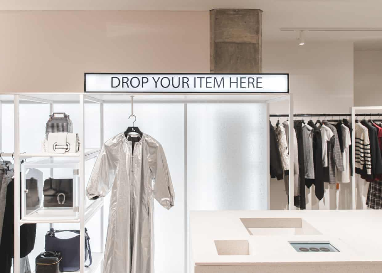 Vestiaire Collective Selfridges Pop-up - luxury fashion merchandised in a store setting