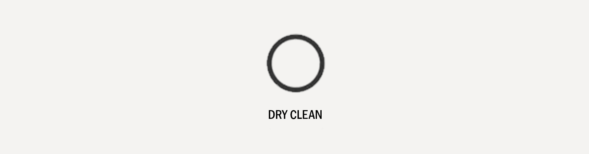 Laundry Care Symbol - Dry Clean