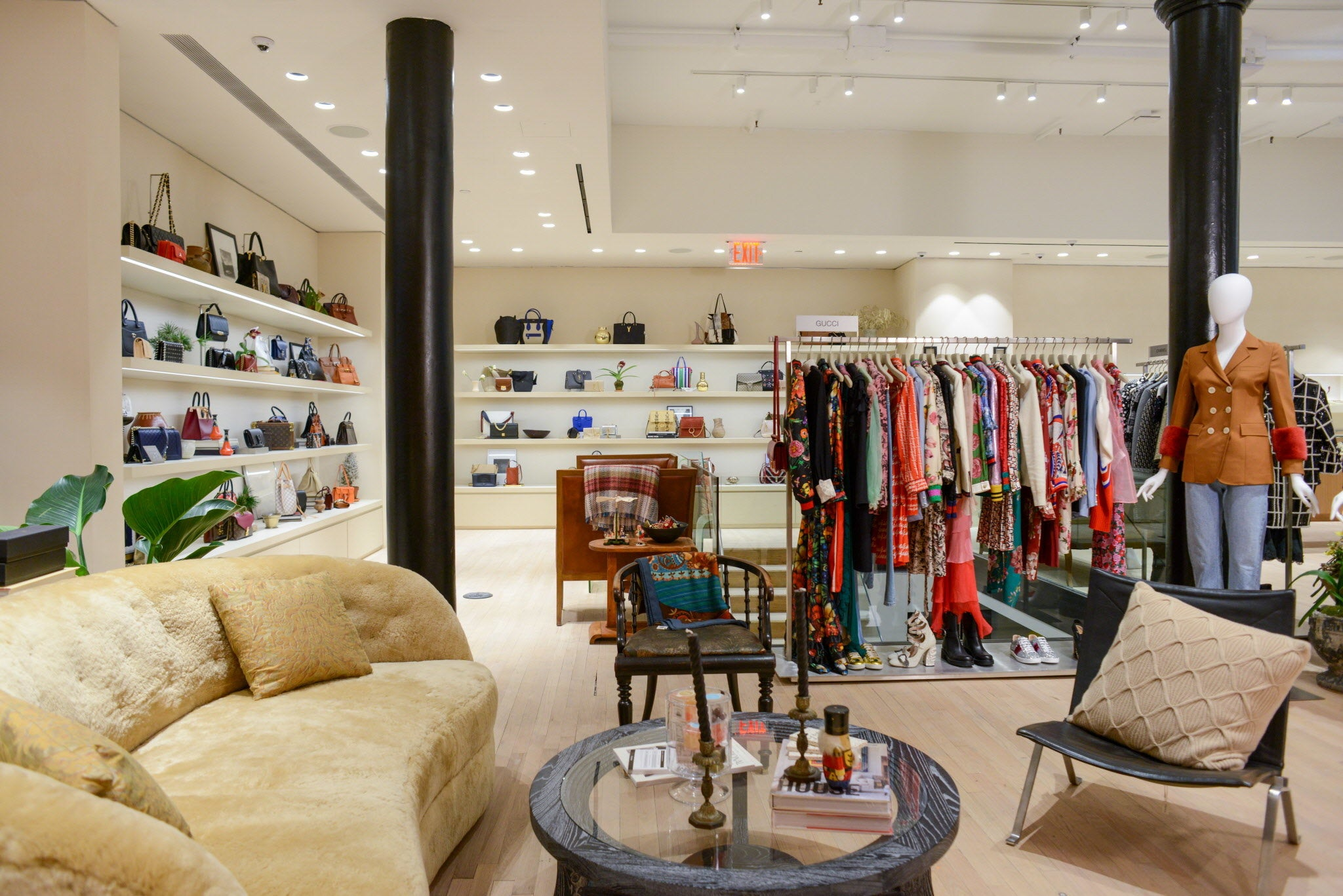 The Real Real Soho, New York Pop-Up - Luxury fashion merchandised in a store setting