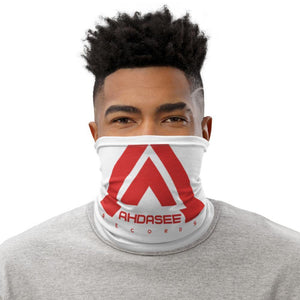 Ahdasee Neck Gaiter (White & Red) - Ahdasee Records
