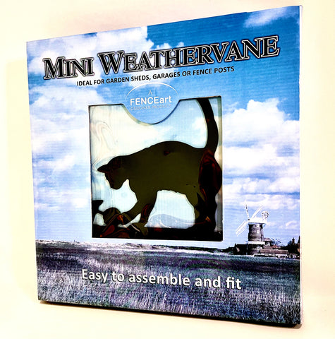 Mini Weathervane (Cat and Mouse)