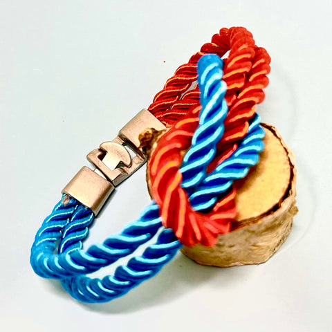Satin Rope Knot Bracelet with Toggle Clasp