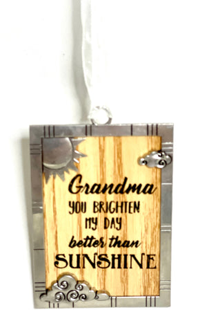 Grandma you Brighten my Day Better than Sunshine Ornament