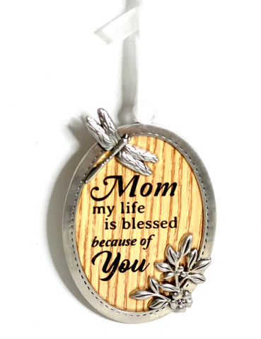 Mom my Life is Blessed Because of You Ornament