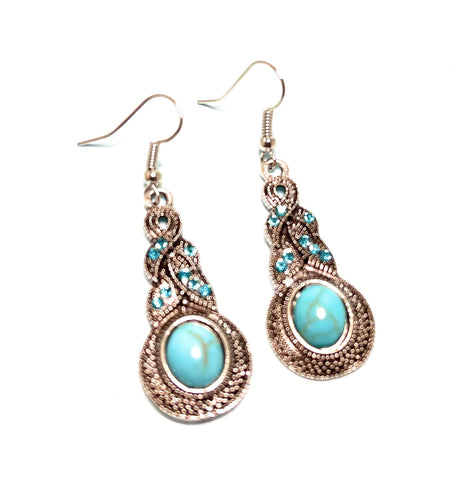 Boho Dangle Sparkle Earrings
