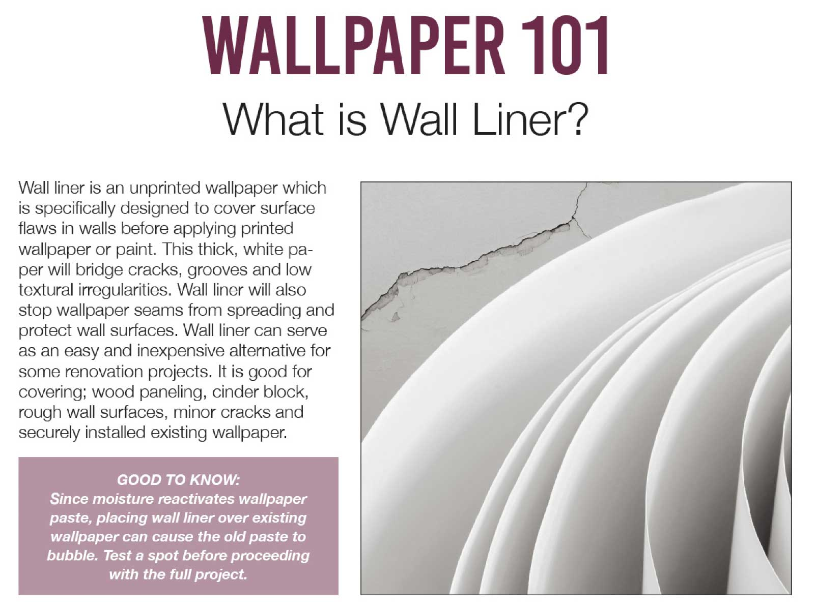 Wall liner 1