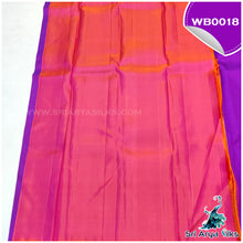 Load image into Gallery viewer, Bright Purple Borderless Kanchivaram Saree with Peacock Buttas