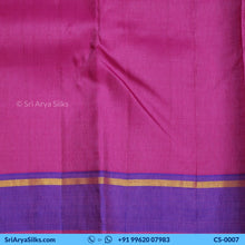 Load image into Gallery viewer, CS 0007 Rust Zari Checked Saree With Double Color Border Pallu Blouse Pink Kattam Checked Silk Saree Saree Sri Arya Silks Buy Silk Sarees Online Chennai 1 4