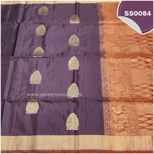 Load image into Gallery viewer, dual tone snuff shade kanchivaram handwoven soft silk saree2