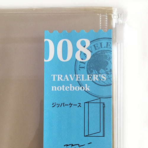 Midori Traveler's Notebook-Refill 008 Clear Zipper Pocker
